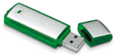 Media Library - USB - Green