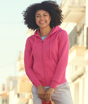 Image of LADY-FIT PREMIUM HOODED SWEAT JACKET