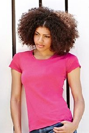 An image of Lady-fit valueweight tee
