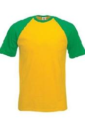 An image of Short sleeve baseball tee
